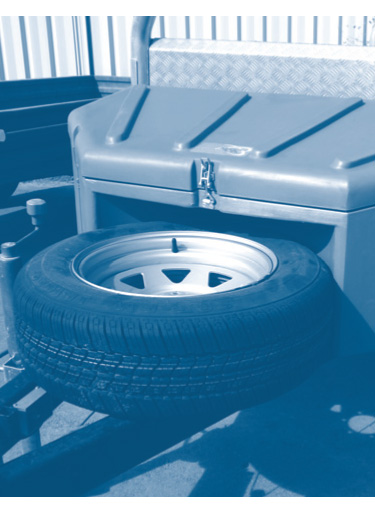 Polybox spare wheel Townsville | Bartel Trailers Townsville
